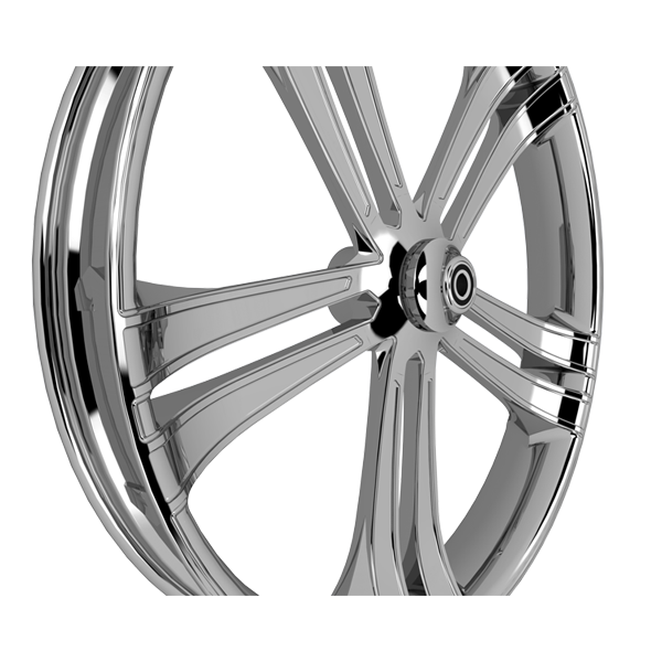 """Sinful 3-D 30"""" x 4"""" Wheel chrome right-facing"""