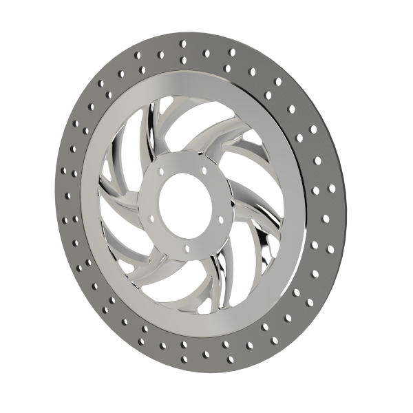 "Slinger 13"" Floating Polished Rotor"